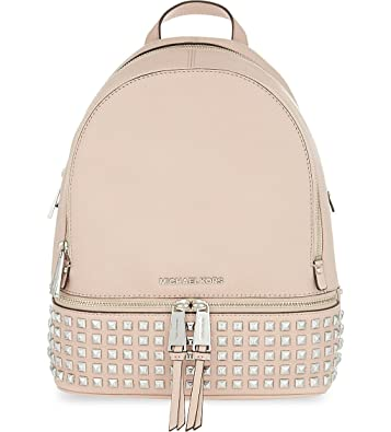 e8c7fbb89e9d ... shopping michael michael kors studded rhea zip small leather backpack  ballet 92f92 45654
