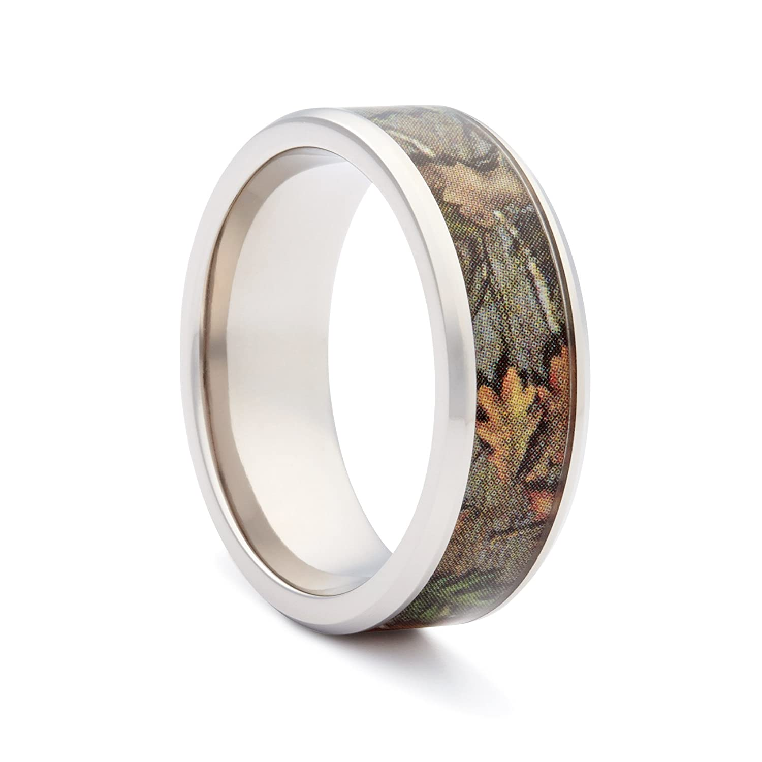 camo wedding rings by 1 camo camo engagement rings bevel titanium - Hunting Wedding Rings