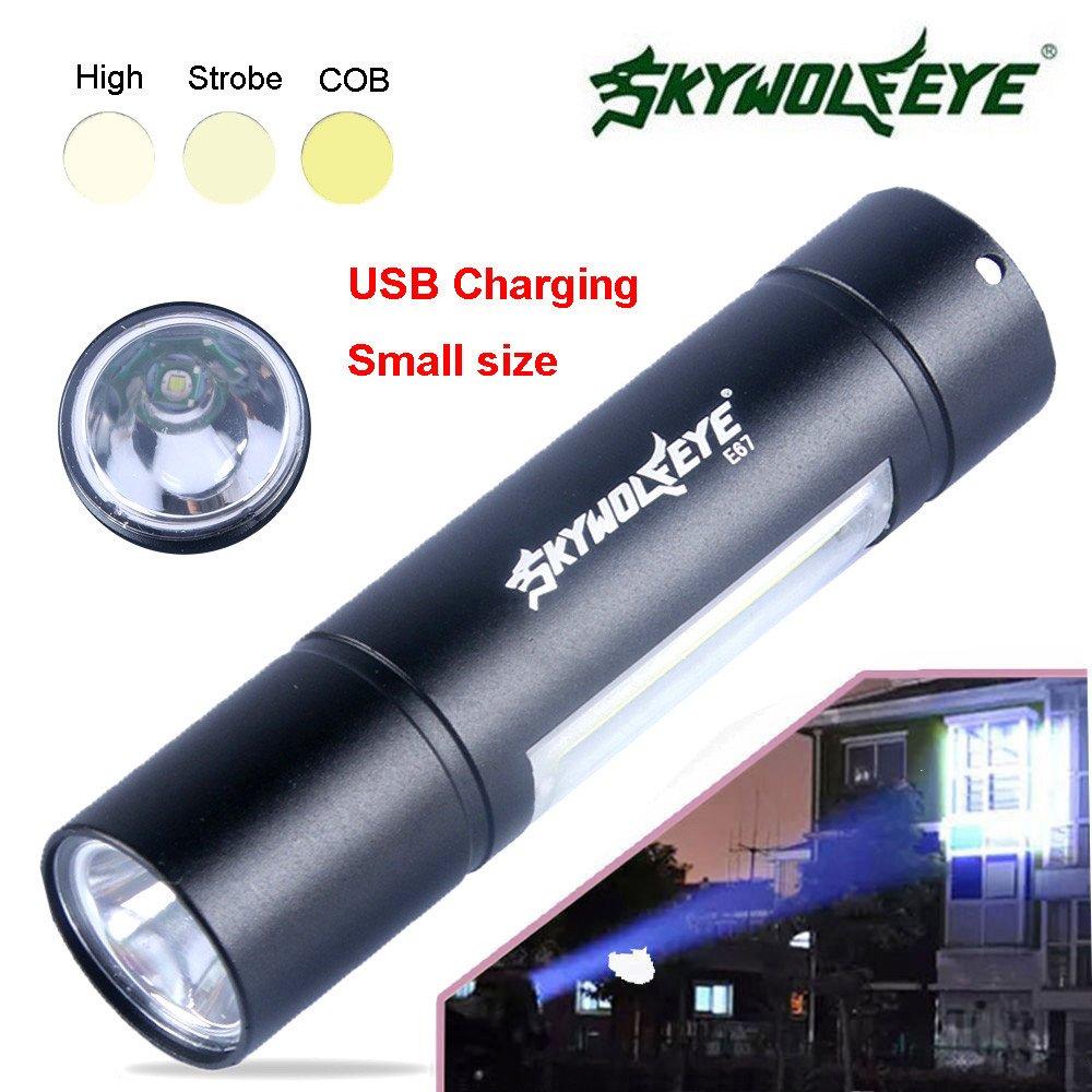 MuSheng(TM) Lampe torche rechargeable usb à DEL à 3 modes de fonctionnement portatif XPE + SMD brillante pour 14500