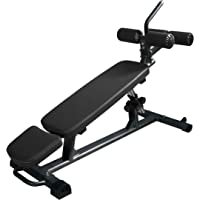 Finer Form Semi-Commercial Sit Up Bench Elite with Reverse Crunch Handle for Ab Exercises and 4 Adjustable Height…