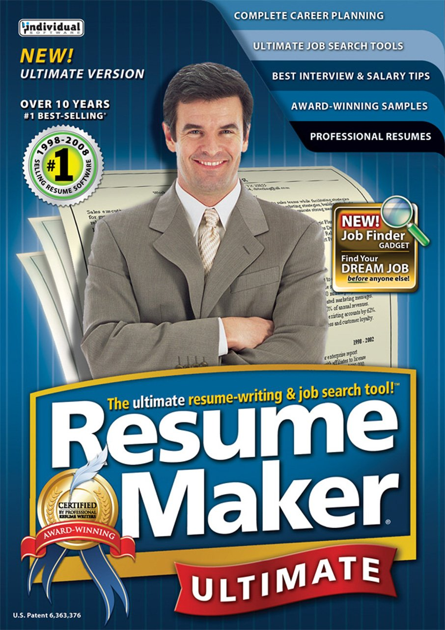 Amazon.com: ResumeMaker Professional Ultimate V4 [Download]: Software