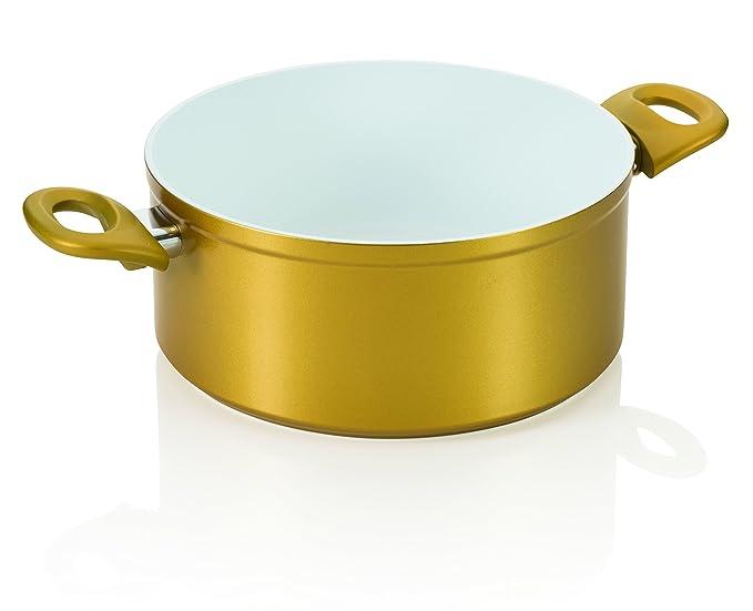 Cerafit Gold Diamant Edition (Set 2tlg.) | Töpfe mit Deckel: Amazon.es: Hogar