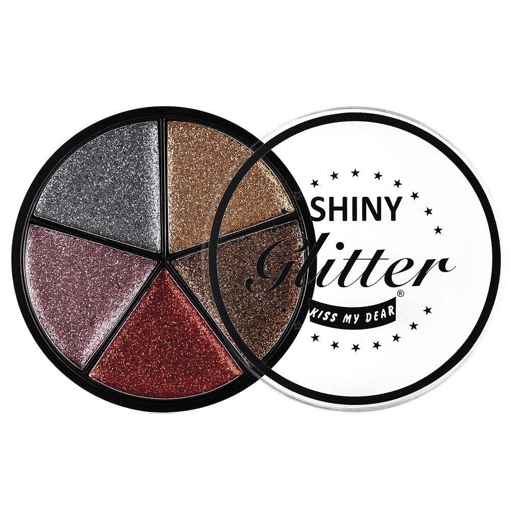 5 Color Glitter Eyeshadow Cream Makeup Waterproof Brighten Eye Shadow Cosmetic (B)
