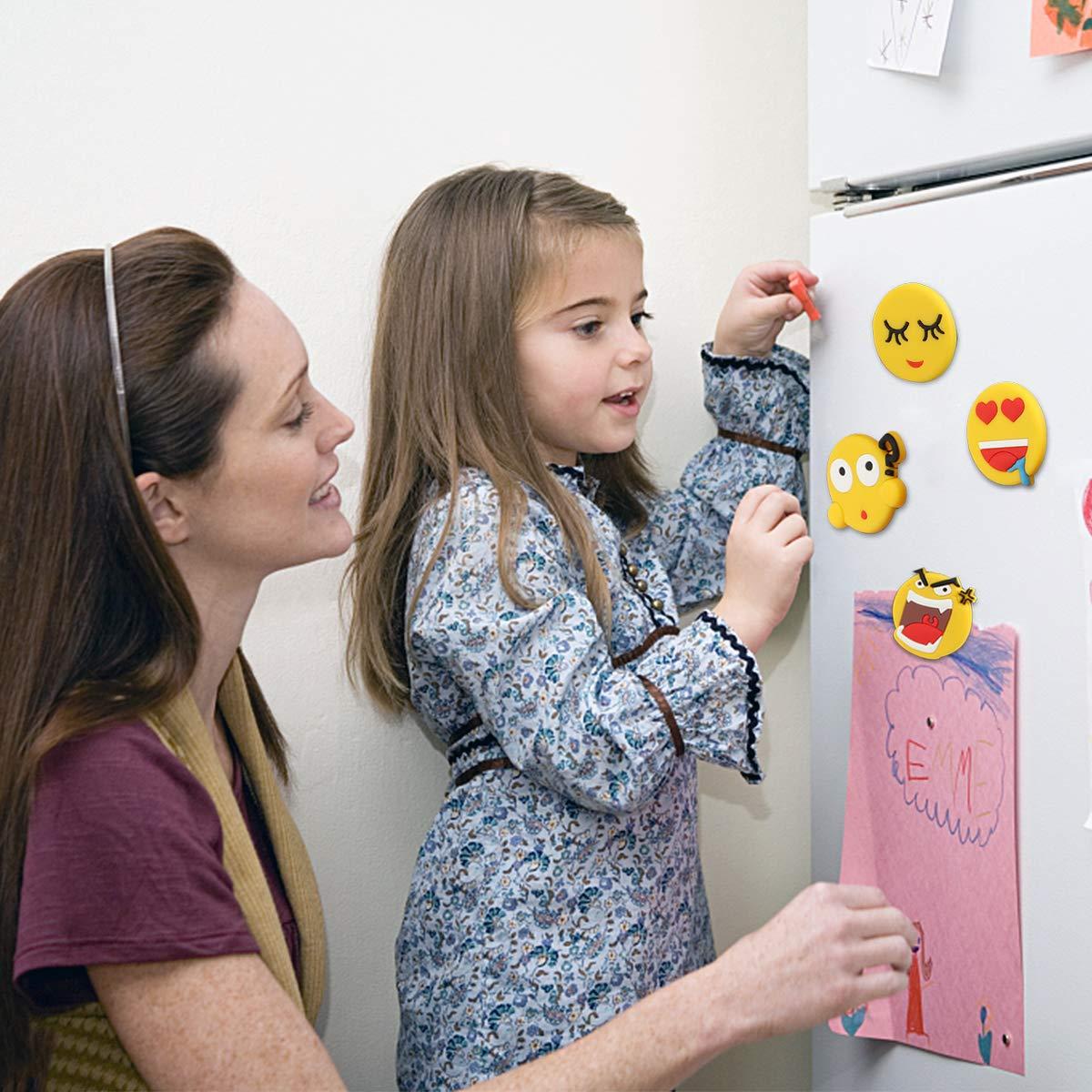 K/ühlschrank Tectri Magnet Spiele f/ür Kinder B/üro und Klassenzimmer K/üche Magnettafel 27 St/ücke K/ühlschrankmagnete Emoji Magnete Stark Whiteboard
