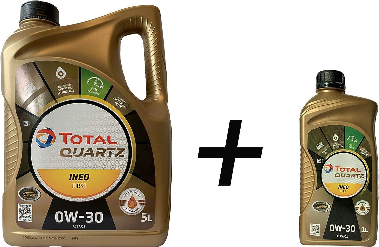 6 Liter MotorÖl Total Quartz Ineo First 0w 30 Auto