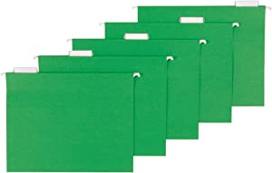 AmazonBasics Hanging Folders, Letter Size, Bright Green, 25-Pack