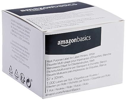 AmazonBasics - Etiquetas multiusos para impresoras de etiquetas ...
