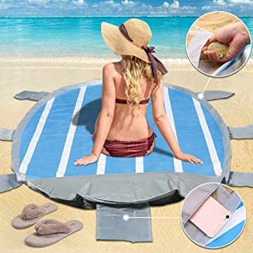 ARCBLD Beach Blanket with Inflatable Pillow 35