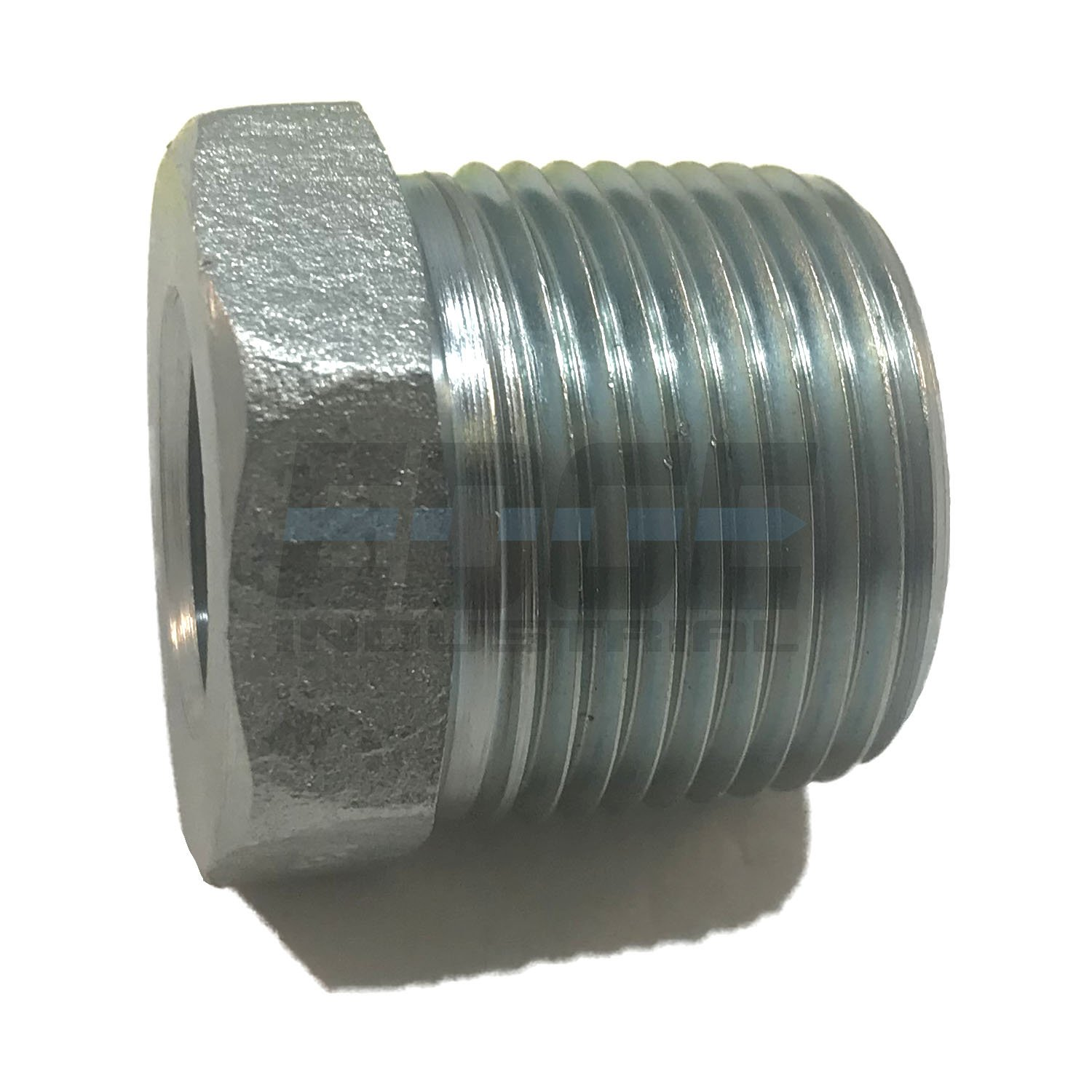 WOG Oil//Gas EDGE INDUSTRIAL Steel REDUCING HEX Bushing 1//2 MNPT x 3//8 FNPT NPT HYDRUALIC//Fuel AIR//Water
