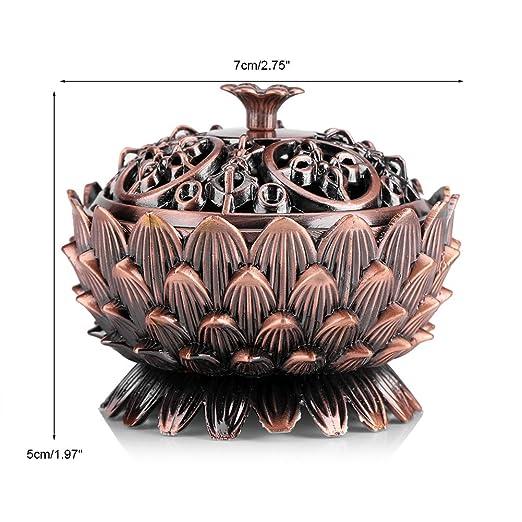 Amazon.de: Räuchergefäß Vintage Lotus Form Alloy Räuchergefäß ...