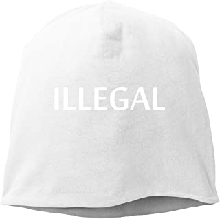 BUZRL Hip-Hop Knitted Hat for Mens Womens Lllegal Unisex Cuffed Plain Skull Knit Hat cap Head cap Unisex Funny Fashion