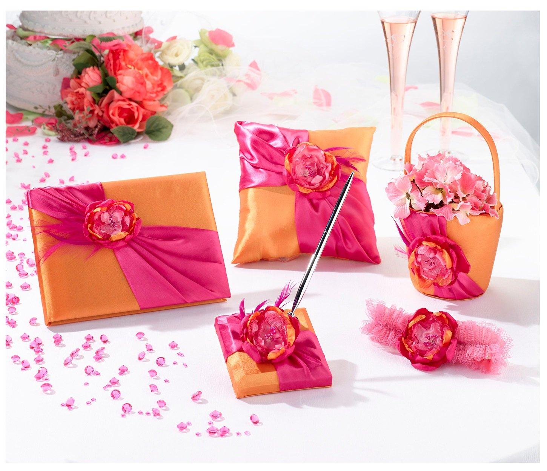Amazon.com: Lillian Rose Wedding Ceremony Hot Pink and Orange Guest ...