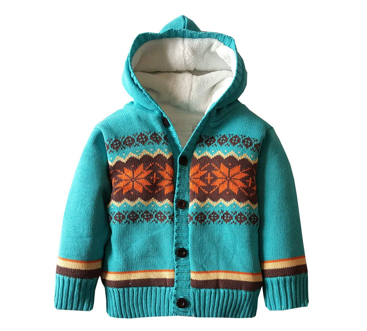 Baby Boys Hoodies Sweater Toddler Girls Knit Cardigan Outerwear Blue by Dealone