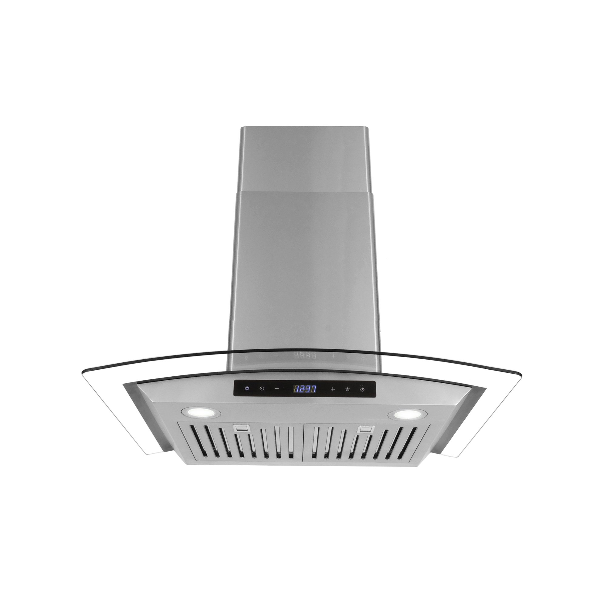 Cosmo COS-668WRCS75 Pro-Style Wall Mount Range Hood 30 inch 760 CFM Tempered Glass Ducted Exhaust Vent, 3 Speed Fan Stainless Steel