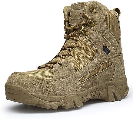AONEGOLD Hombres Botas de Senderismo Zapatos de Trekking Botas Tácticas Transpirables Militar Senderismo Zapatos Botas de Invierno