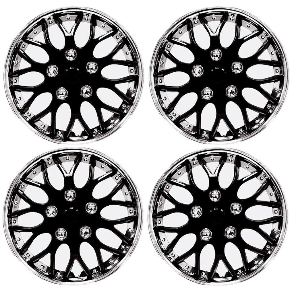 Amazon com hs 45379 black 13 premium quality hubcap pack of 4 automotive