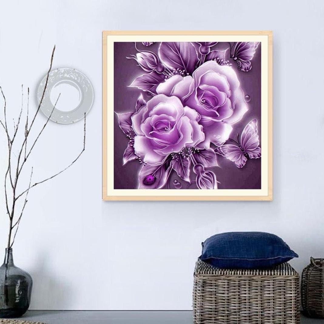 Staron Retro Rose Flower Wall Art Decor Cross Stitch Kit Crystals 5D Diamond Painting Rhinestone Pictures Embroidery Arts Home Decor E DIY 5D Diamond Painting