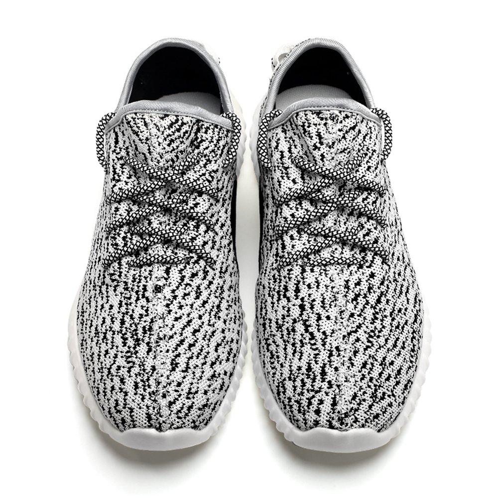 Saibhreas Men's Women's Running Shoes Lightweight Mesh Sneakers Breathable Casual B078MYFLP4 Women 9.5 B(M)US=Men 8.5 D(M)US/42EU|Rice White