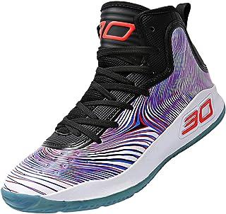 SINOES Hombre Zapatillas de Baloncesto Calzado Deportivo Al Aire Libre Moda High-Top Sneaker Antideslizante Zapatillas de Deporte Ligeros Zapatos para Correr Transpirable Lace Up
