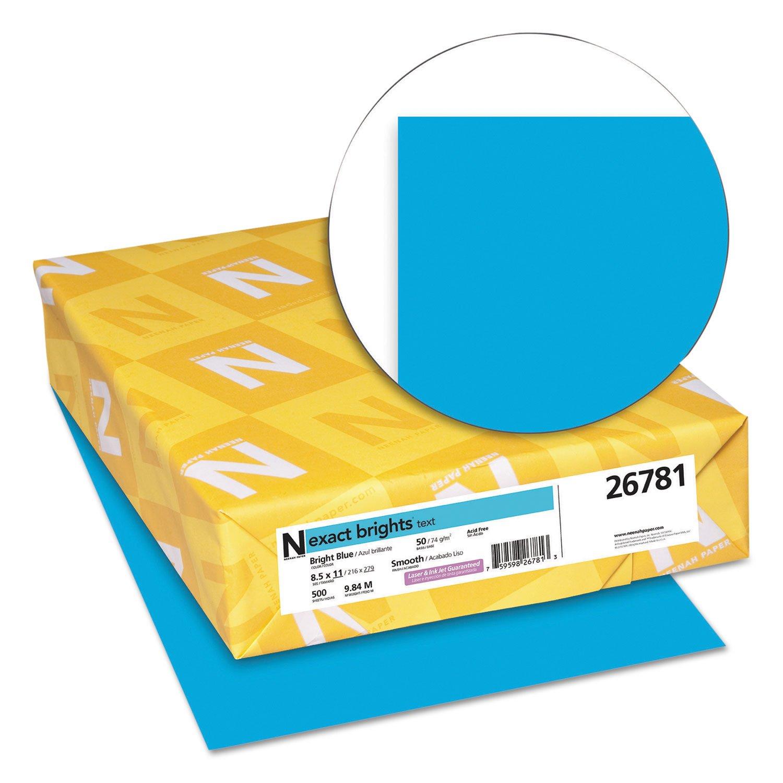 Exact Color Copy Paper, 8-1/2 x 11 Inches, 20 lb, Bright Blue, 500 Sheets