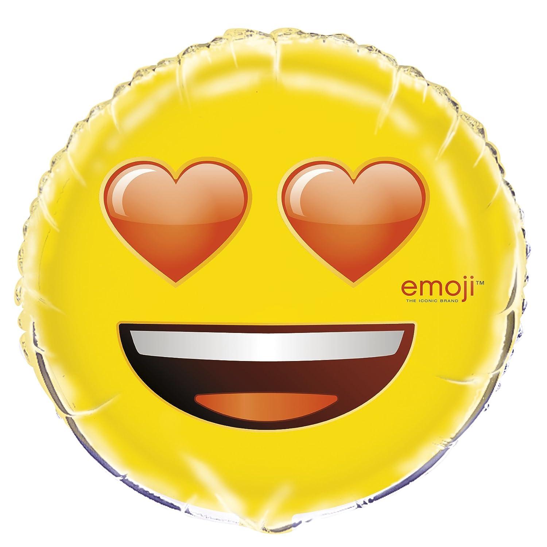 Amazon com 18 foil heart eyes emoji balloon toys games