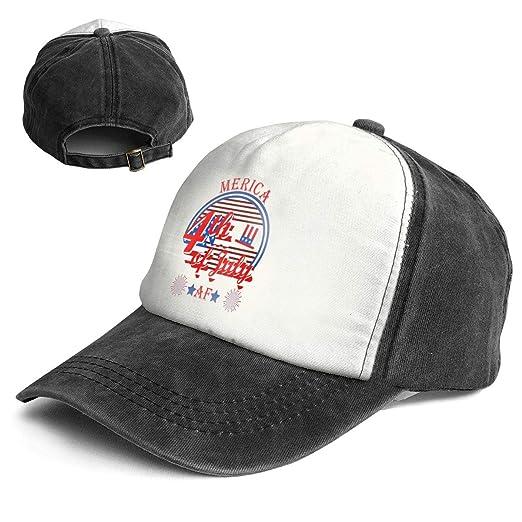 FUYUDE Merica AF America Freedom Flag 4th July Adjustable Size Washable  Baseball Cap Sports Cap a725e307254f