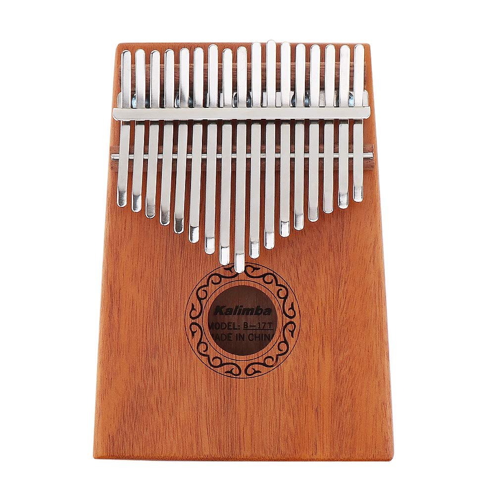 【Happy Shopping Day】OriGlam 17 Key Kalimba Mbira Thumb Piano, Finger Piano/Mbira 17 Tone Musical Toys with Engraved Notation, Hammer, Music Book for Music Lovers Beginners and Child