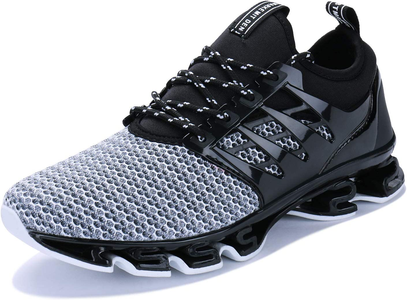 JointlyCreating Men Women Water Sports Shoes Slip-on Quick Dry Aqua Swim Shoes for Pool Beach Surf Walking Water Park 1-black White