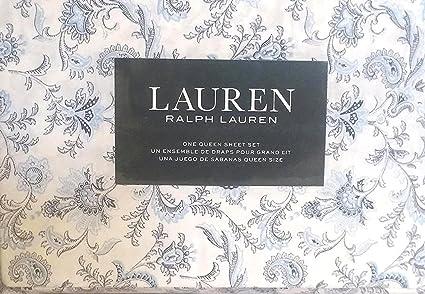 Amazon Com Lauren Ralph Lauren Queen Size 4 Piece Sheet Set 100