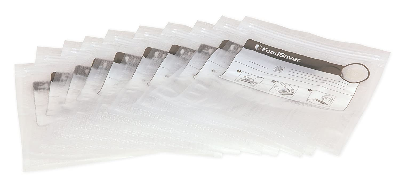 Foodsaver FVB015X Bolsas para envasador al vacío con cierre tipo zip, 0.95 litros, 0 Decibelios, Plástico, Transparente