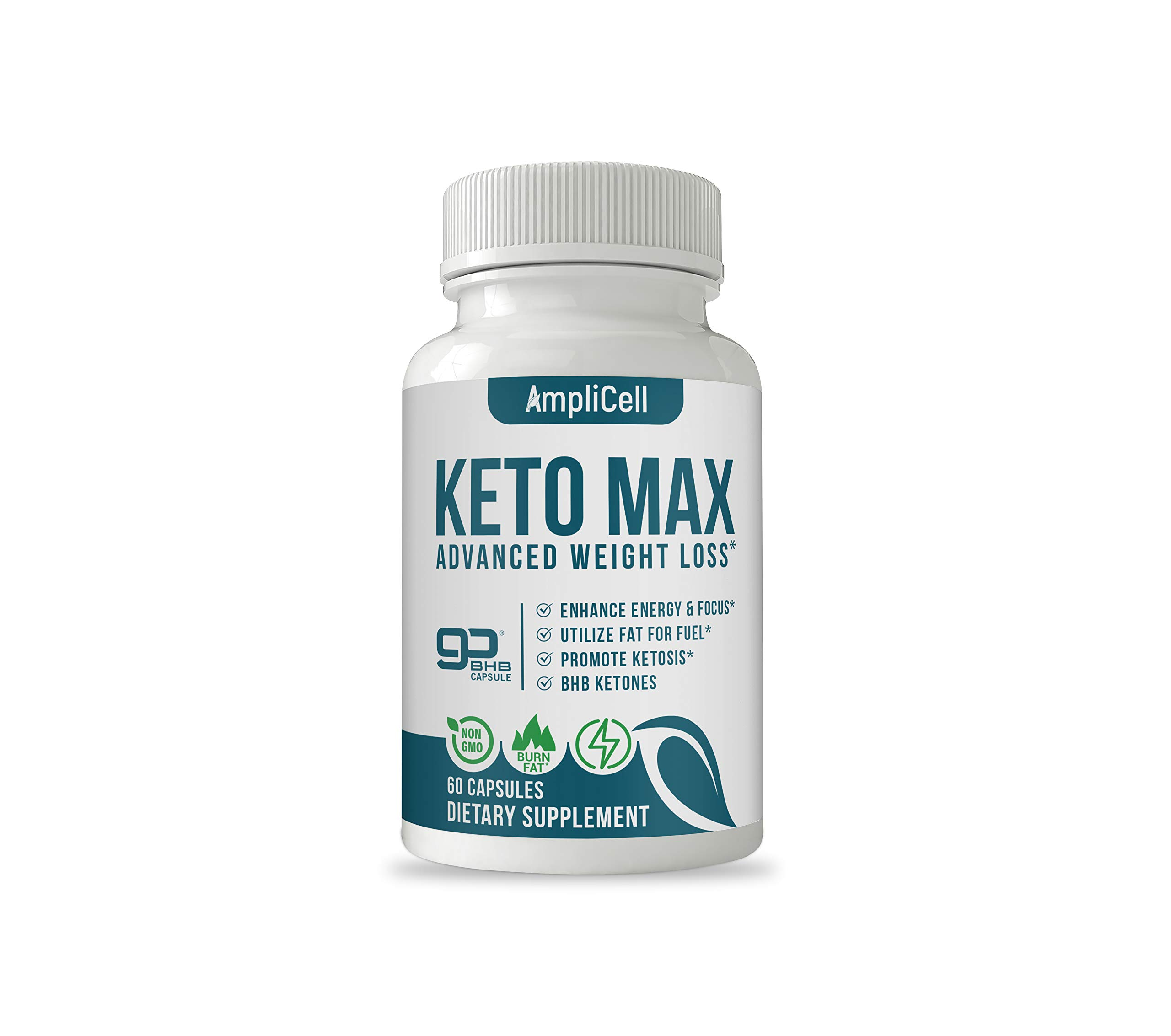 Keto Pills - Advanced Weight Loss Supplements w/carb Blocker - Keto Weight Loss Pills to Burn Fat Fast - Boost Energy and Metabolism - Amplicell Keto Diet Pills by AMPLICELL