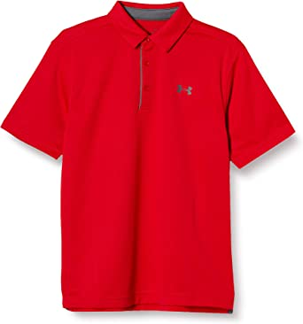 Under Armour Men's Tech Golf Polo , Red (600)/Graphite, X-Large