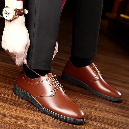XIAOLIN- Flut Schuhe Neu Männer England Geschäft Kleid Schwarz Lederschuhe ( Farbe : Schwarz , größe : EU42/UK8.5/CN43 )