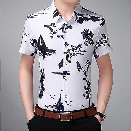 Camisa de Manga Corta Estampada XL de Tinta China para ...