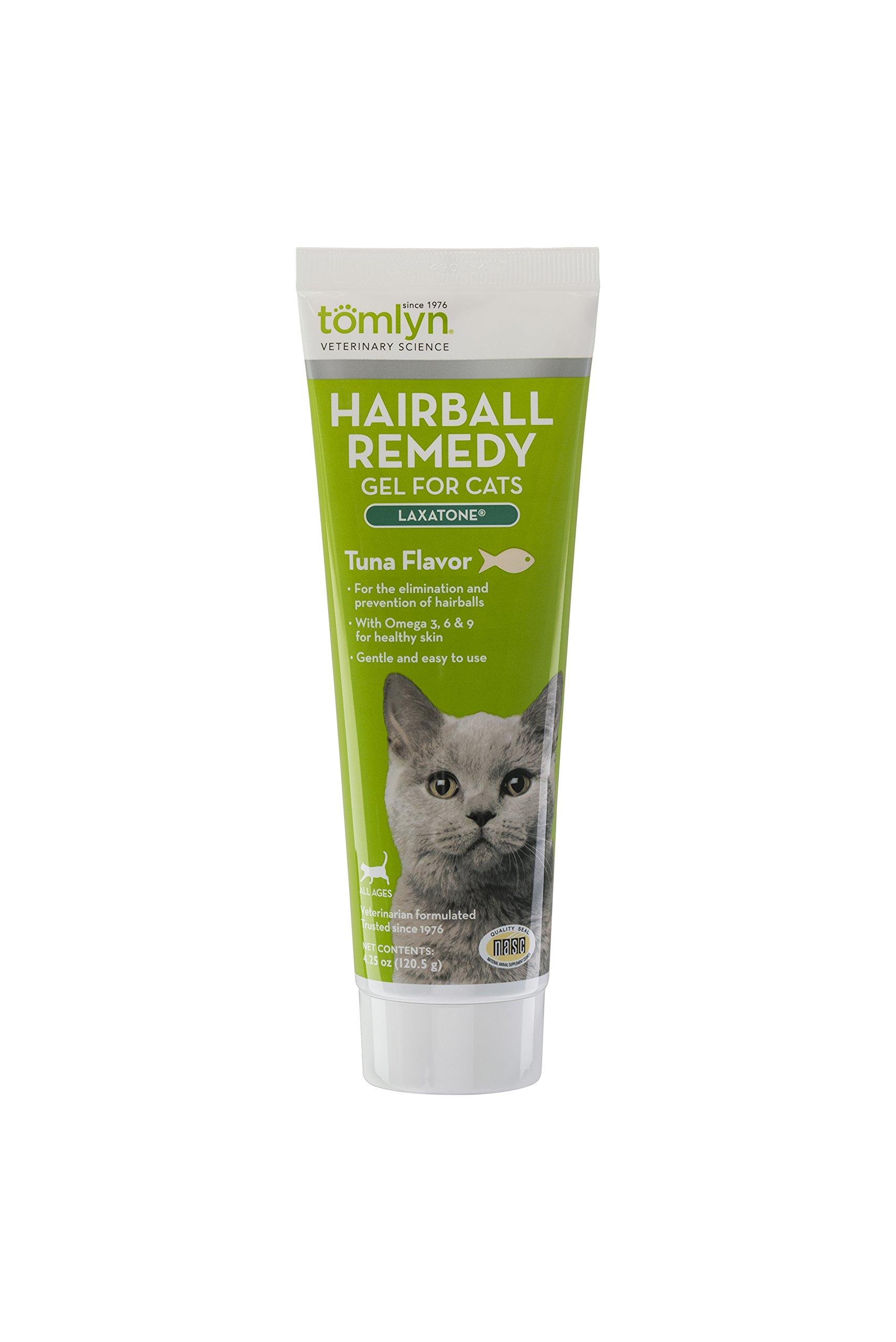 Tomlyn Hairball Remedy Gel for Cats, Tuna Flavor, (Laxatone) 4.25 oz