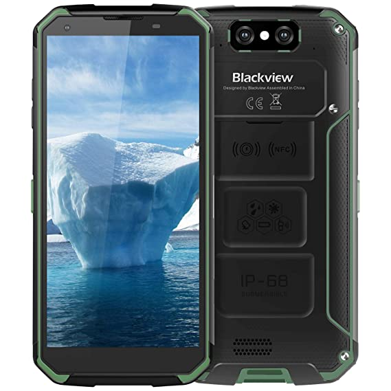 Rugged Cell Phone Unlocked,Blackview BV9500 Rugged Smartphone IP68  Waterproof, Android 8 1 4G LTE Dual SIM 5 7 inch FHD,Octa Core  4GB+64GB,10000mAh