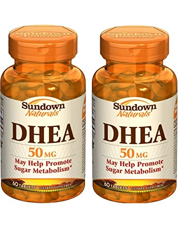 Sundown Naturals DHEA Energy Enhance Dietary Supplement Tablets, 50 mg, 60-Count Bottles