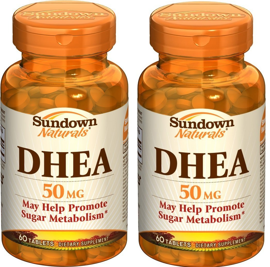 Amazon.com: Sundown Naturals DHEA 50 mg, 60 Tablets (Pack of 3): Health & Personal Care