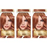 L'Oreal Paris Superior Preference Fade-Defying Color + Shine System, 7LA Lightest Auburn (Pack of 3)