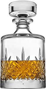 Godinger Whiskey Decanter Dublin Collection, for Liquor Scotch Whisky Vodka or Wine - Round