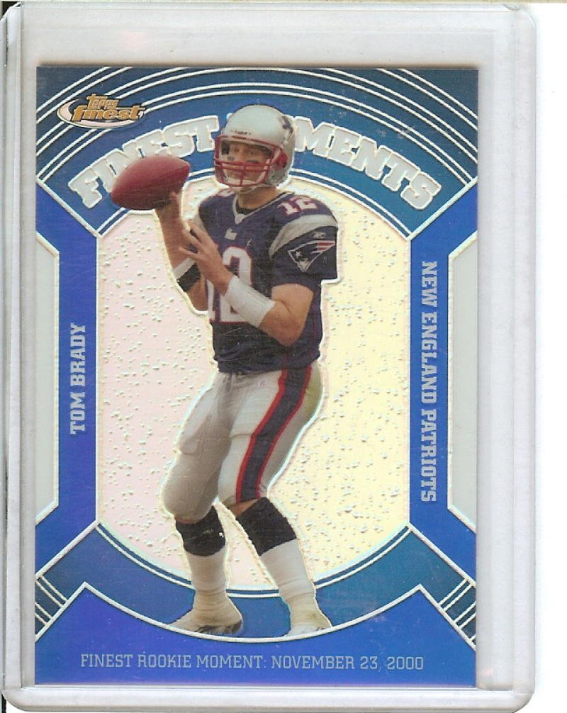Football NFL 2007 Finest Moments Blue Refractors #TB Tom Brady /299 Patriots