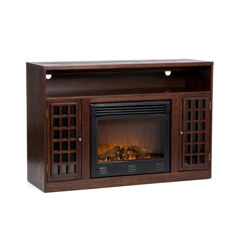 Amazon.com: Narita Media Electric Fireplace   Espresso: Kitchen U0026 Dining
