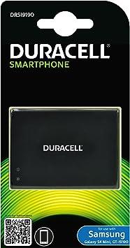 Duracell DRSI9190 - Batería para Samsung Galaxy S4 Mini (1900 mAh, 3.8V, Li-Ion), Color Negro: Amazon.es: Electrónica