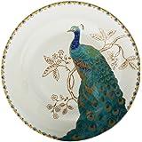 222 Fifth Peacock Garden Appetizer Plate, Set Of 4