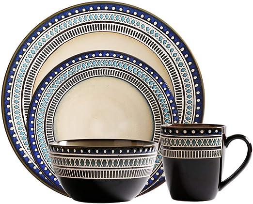 Amazon.com: Juego de 4 vajillas de porcelana, creativo y ...