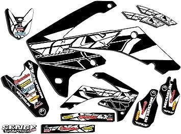 Senge Graphics Kit Compatible with Honda 2005-2007 CRF 450R Merica MATTE BLACK Graphics kit