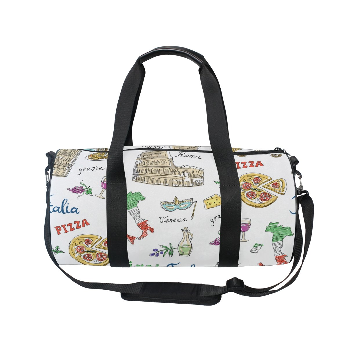 Cooper girl Travel Italy Pizza Duffels Bag Travel Sport Gym Bag