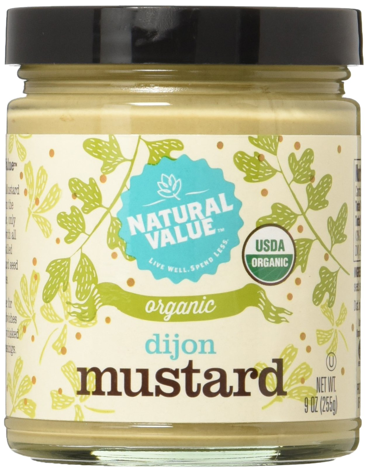 Natural Value Organic Dijon Mustard, 9 Ounce (Pack of 12)