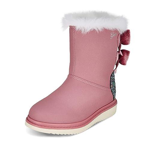 bottes noires geox fille noeud rose