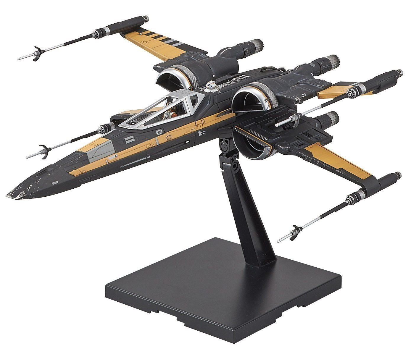 Amazon com: Star Wars Model Kit 1/72 POE'S BOOSTED X-WING